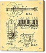 Seth Lover Gibson Humbucker Pickup Patent Art 1959 Acrylic Print