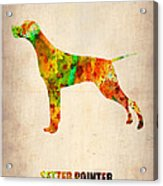Setter Pointer Poster Acrylic Print by Naxart Studio