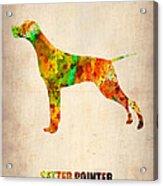 Setter Pointer Poster Acrylic Print by Naxart Studio
