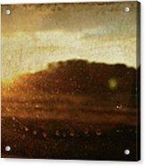 Setting Sun Abstract Acrylic Print