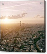 Setting Sun Over Paris Acrylic Print