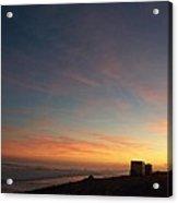 Setting Sun Over The Dunes Acrylic Print