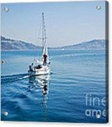 Setting The Sails Acrylic Print