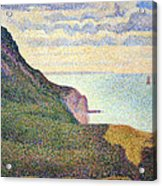 Seurat's Seascape At Port Bessin In Normandy Acrylic Print