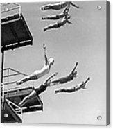 Seven Champion Diving In La Acrylic Print