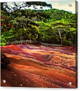 Seven Colored Earth In Chamarel 3. Mauritius Acrylic Print