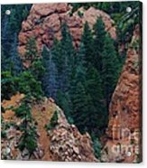 Seven Falls Mountain's Colorado Acrylic Print by Robert D  Brozek