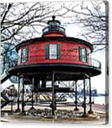 Seven Foot Knoll Lighthouse - Baltimore Acrylic Print