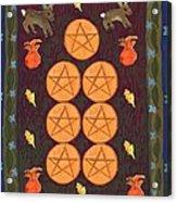 Seven Of Pentacles Acrylic Print