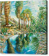 Seven Palms Oasis Acrylic Print