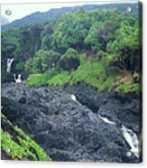 Seven Sacred Pools Haleakala National Park Maui Hawaii Acrylic Print