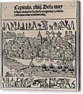 Sevilla In 1548. Xylography. Spain Acrylic Print