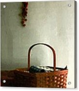 Sewing Basket In Sunlight Acrylic Print