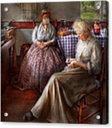 Sewing - I Can Watch Her Sew For Hours Acrylic Print