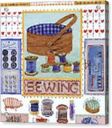 Sewing Acrylic Print