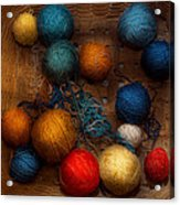 Sewing - Knitting - Yarn For Cats Acrylic Print by Mike Savad