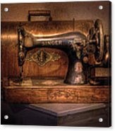 Sewing Machine  - Singer  Acrylic Print by Mike Savad
