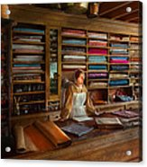 Sewing - Minding The Mending Store Acrylic Print by Mike Savad