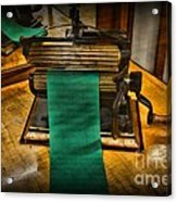 Sewing - The Victorian Seamstress  Acrylic Print by Paul Ward