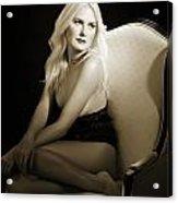 Sexy Fine Art Blond Girl In Chair 1285.01 Acrylic Print