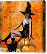 Sexy Halloween Acrylic Print by Frederico Borges