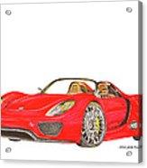 Sexy Spyder Porsche 918 Acrylic Print