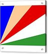 Seychelles Flag Acrylic Print