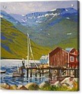 Seydisfjordur Wharf Acrylic Print