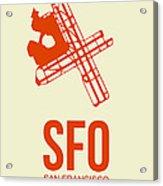 SFO San Francisco Airport Poster 1 Acrylic Print