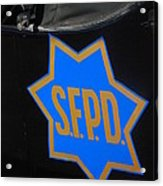 Sfpd Emblem Acrylic Print by T C Brown