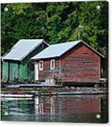 Shacks In Alaska Acrylic Print