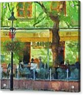 Shaded Cafe Acrylic Print