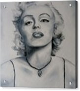 Shades Of Gray Marilyn Monroe Acrylic Print