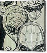Shades Of Grays Three Acrylic Print