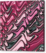 Shades Of Pink And Red Decorative Design Acrylic Print by Matthias Hauser
