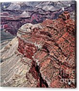 Shades Of Red In The Canyon Acrylic Print