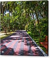 Shadow Alley In Sun Island Resort. Maldives  Acrylic Print