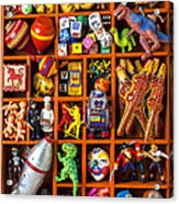 Shadow Box Full Of Toys Acrylic Print