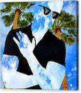 Shadow Man Palm Springs Acrylic Print
