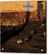 Shadow Of Cross Peru Acrylic Print