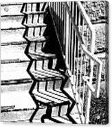 Shadow Of Handrail Acrylic Print