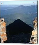 M-05715-shadow Of Mt. Mcloughlin Acrylic Print