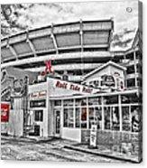 Shadow Of The Stadium Acrylic Print by Scott Pellegrin