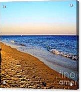 Shadows On Sand Beach Acrylic Print