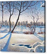 Shadows On The Snow Acrylic Print