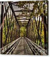 Shadows On The Walking Bridge Acrylic Print