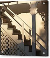 Shadowy Lambertville Stairwell Acrylic Print by Anna Lisa Yoder