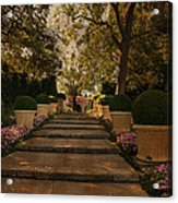 Shady Garden Walk Acrylic Print by Cindy Rubin