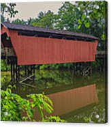 Shaeffer Or Campbell Covered Bridge Acrylic Print