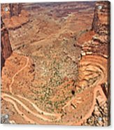 Shafer Trail Acrylic Print by Adam Romanowicz